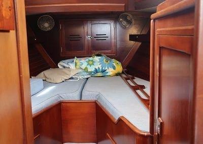 forward bunk of Gypsy Lady a Hinckley Sailboat from Biloxi