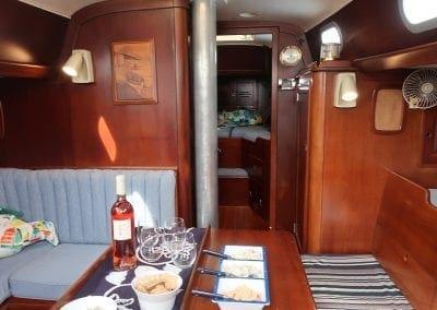 main cabin of Gypsy Lady a Hinckley Sailboat from Biloxi