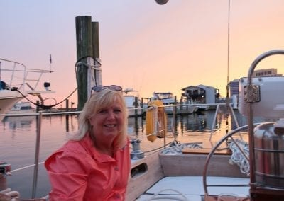 Patti Golden aboard Gypsy Lady a Hinckley Sailboat from Biloxi